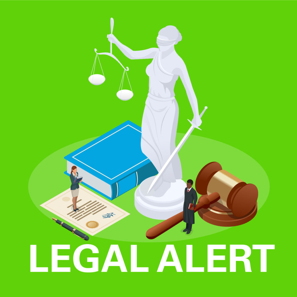 Legal alert graphic