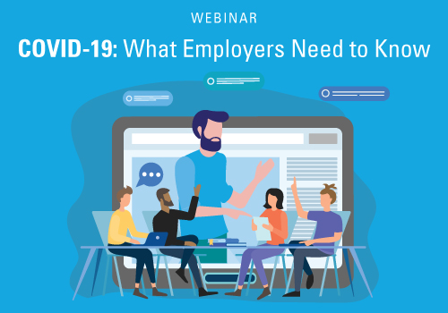 COVID-19: What employers need to know webinar graphic