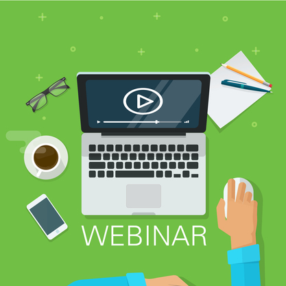 Webinar graphic - person using computer