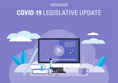 COID-19 Legislative Update webinar graphic