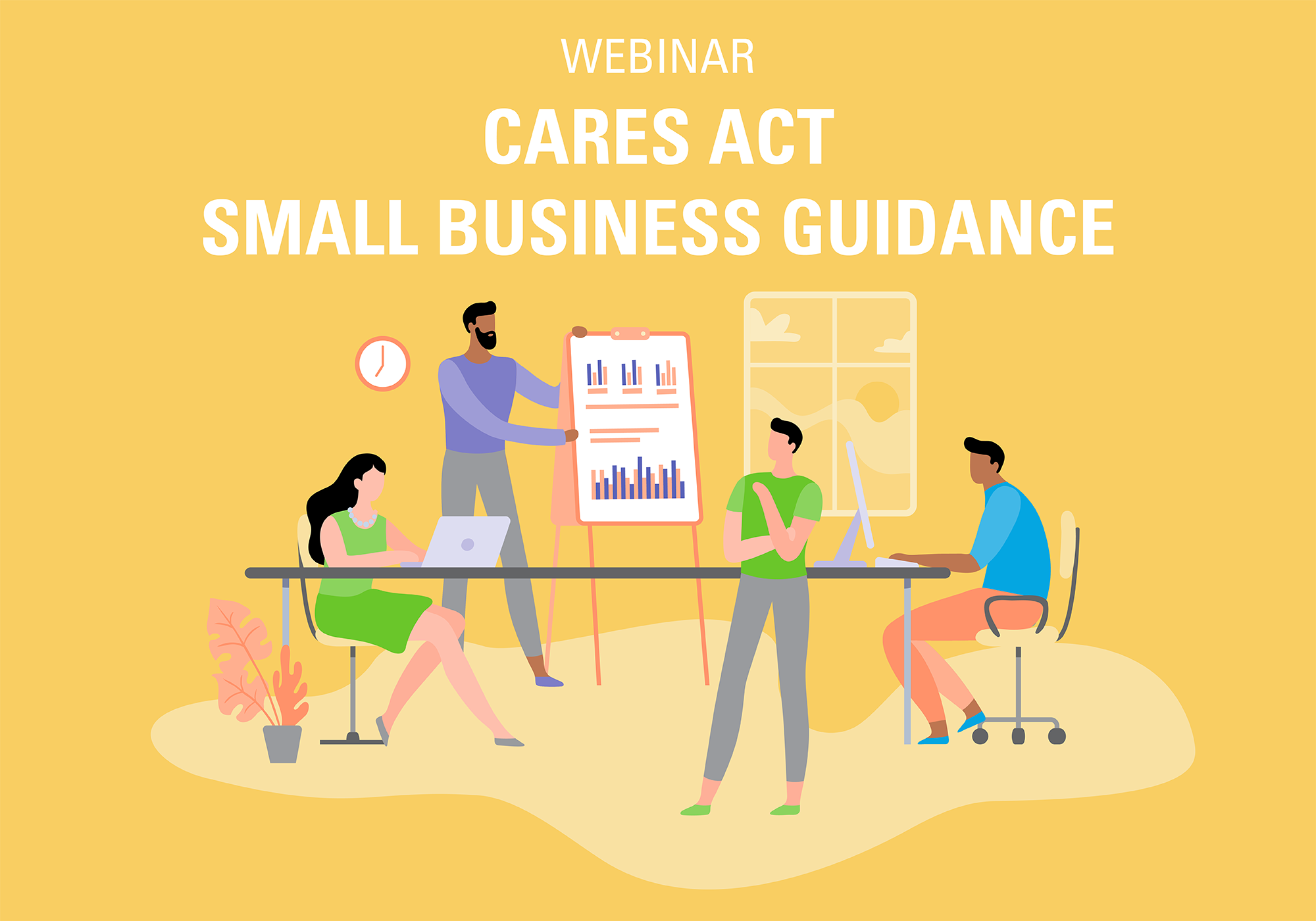 Cares act small business guidance webinar graphic